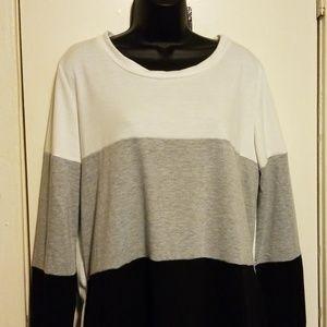 Fantastic Fawn Colorblock Sweatshirt Dress
